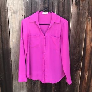 Express The Portofino Shirt in Fuschia